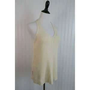 Staccato Cream Sleeveless Sweater Size Large